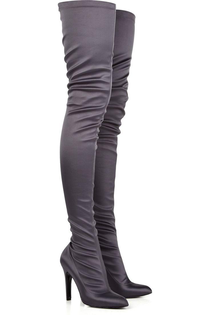 stella mccartney satin thigh high boots fashion