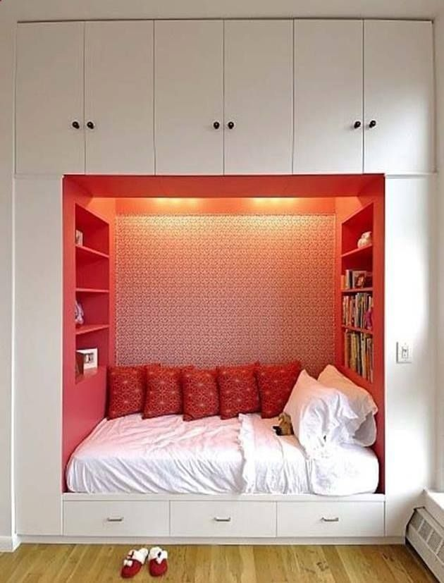 small bedroom ideas built in bed for the home