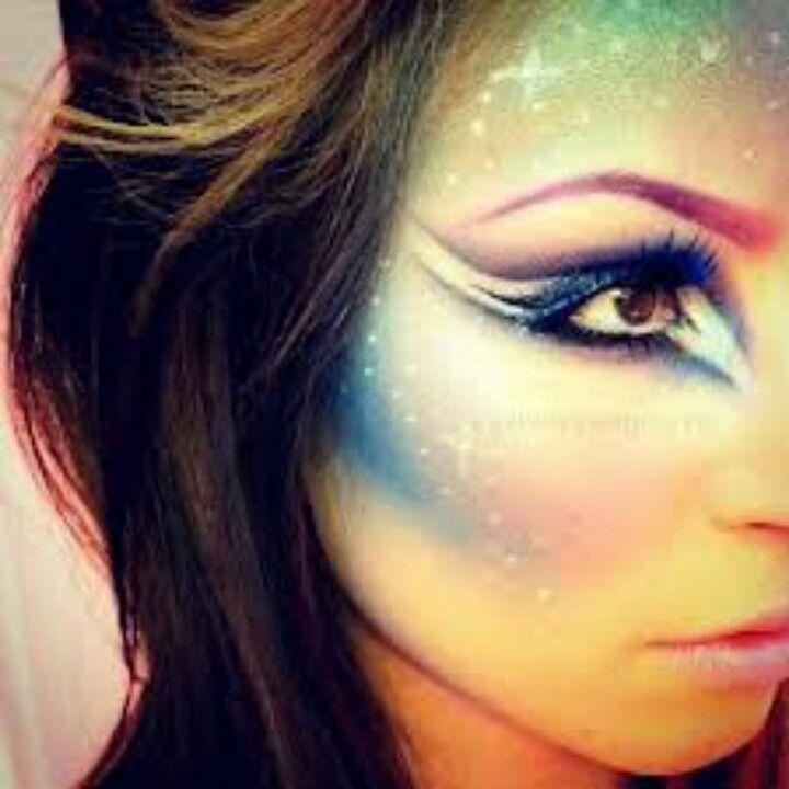Unicorn costume makeup