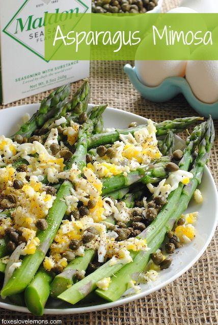 "Asparagus Mimosa from ""Plenty"" - this mimosa isn't an excuse to..."