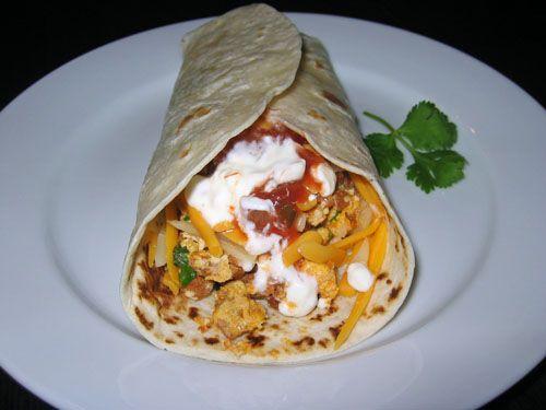 Chorizo and Scrambled Egg Burrito
