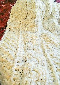 Crochet Cable Stitch Afghan Patterns : Irish Cable Stitch Lap Afghan.... Crochet Pinterest
