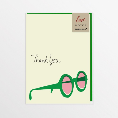 Rosy Glasses Note Card
