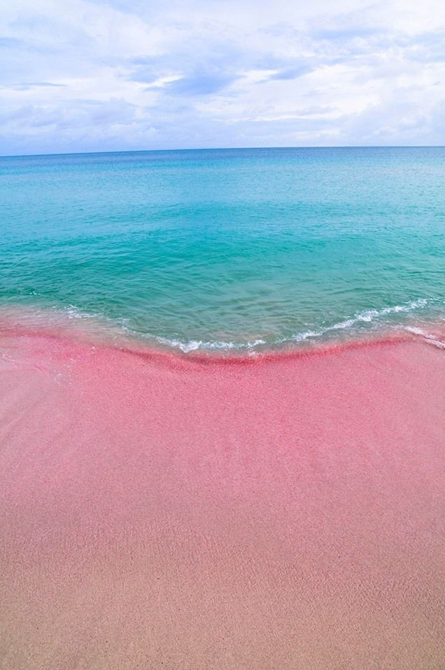 twin island barbuda its pink sand beaches mountains