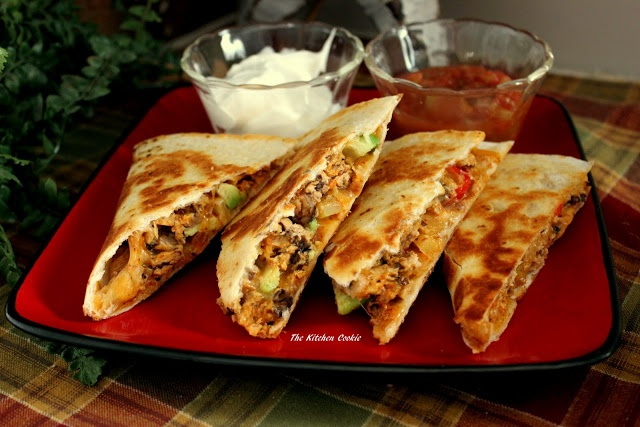 Spicy Peanut Chicken Quesadillas Recipes — Dishmaps
