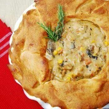 Light chicken pot pie | Chicken | Pinterest