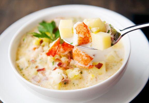 Lobster corn chowder recipe http://userealbutter.com/2013/09/11 ...