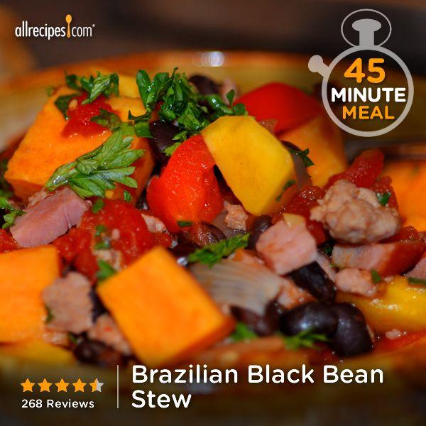 Brazilian Black Bean Stew | Sweet potatoes, mango, black beans, and ...