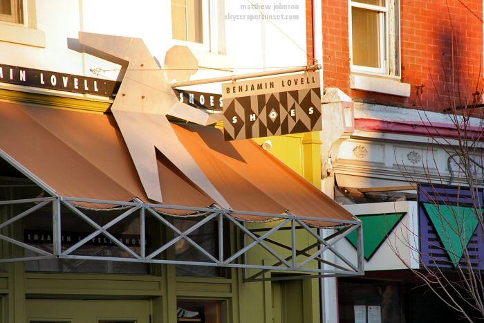Manayunk, Philadelphia - Benjamin Lovell Shoes, creative signage