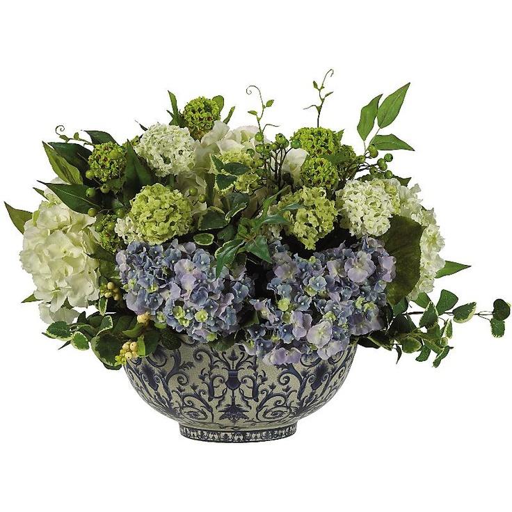 Hydrangea centerpiece beautiful pinterest