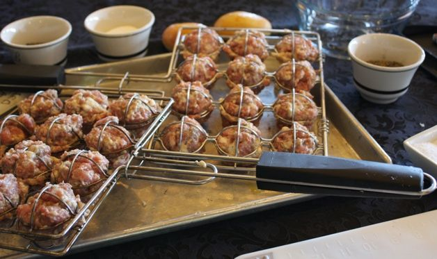 Grilled Meatballs with Lemon-Dill Sauce | Recipes | Pinterest