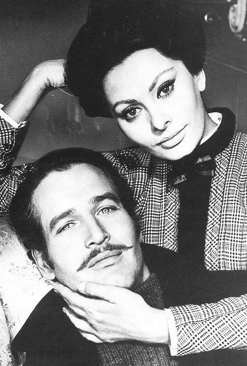 Paul Newman & Sophia Loren in Lady L, 1965.