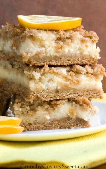 Creamy Lemon Crumb Bars | Recipe