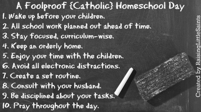 A Foolproof {Catholic} Homeschool Day - Catholic Sistas