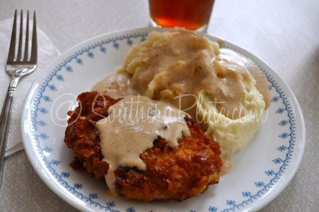 Crispy Breaded Pork Chops with Milk Gravy (and MeMe's Mashed ...