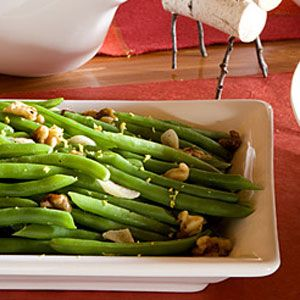 Green Beans with Lemon, Garlic and Walnuts | Recipe