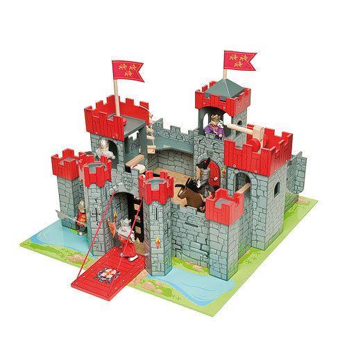 LE TOY VAN Lionheart Castle TV290 - Wooden Toy Knights Castle   eBay ...