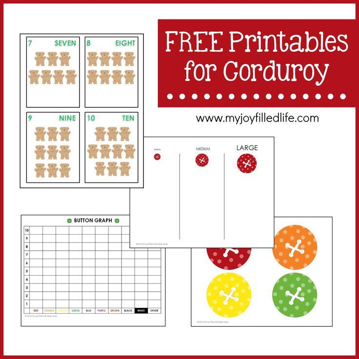 FREE Printables for Corduroy