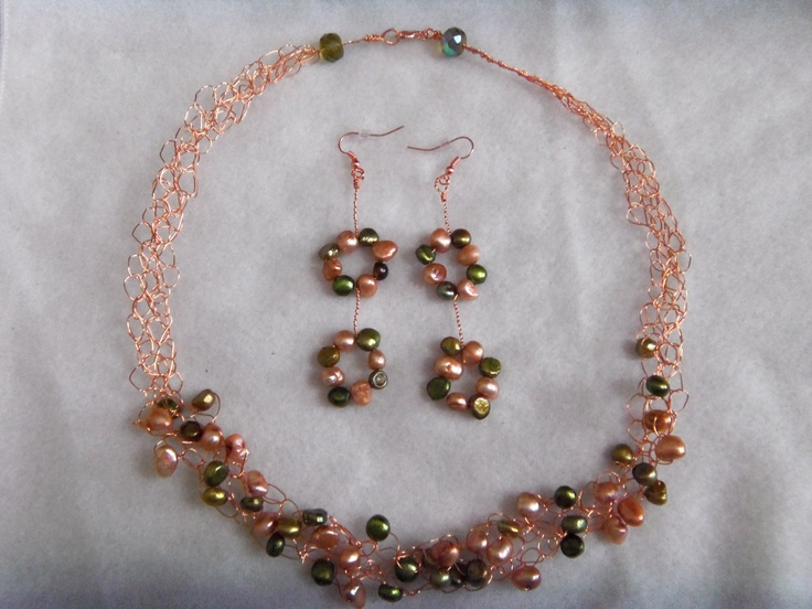 crocheting with wire Jewelry Pinterest