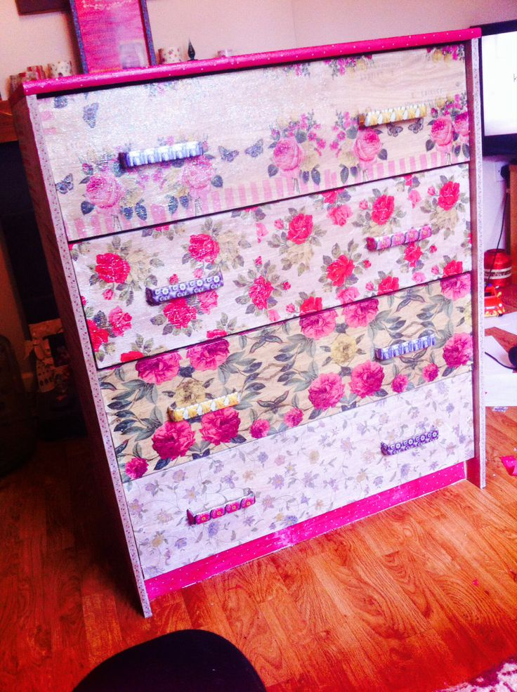 Decoupage Furniture #upcycle #floral | Re-Maids | Pinterest