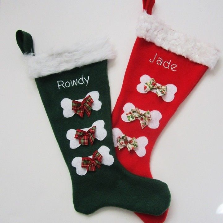 Dog Personalized Christmas Stockings A Pair