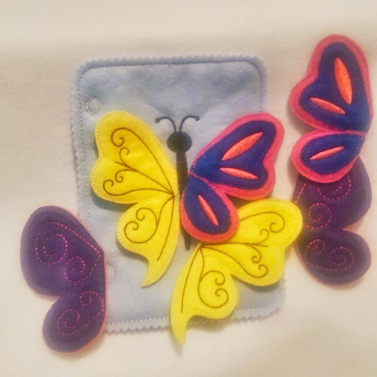 Butterfly matching quiet book page and can be added to other pages to create the perfect quiet book. Comes with 3 sets of double