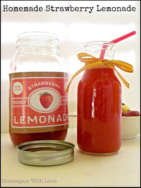 Homemade Strawberry Lemonade   New Drink Recipes   Pinterest