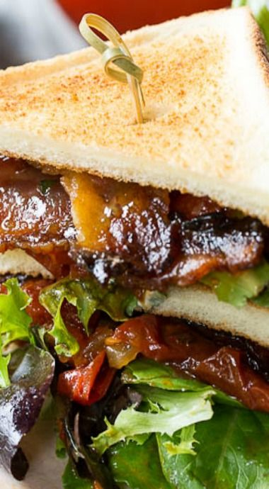 BLT with Tomato Jam and Pepper Jelly Bacon | Recipe
