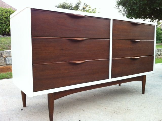 Painted mid century modern dresser painted furniture for Painted mid century modern furniture
