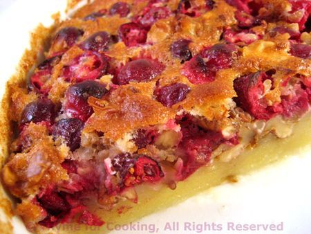 Cranberry Clafoutis - tired of pumpkin pie?