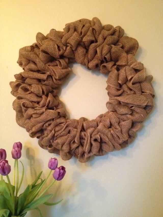 Easy burlap wreath diy pinterest