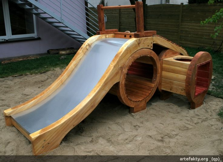 Toddler playground playgrounds pinterest - How to build an outdoor wooden playground ...
