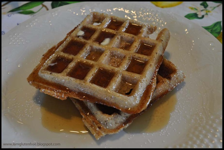 Multi Grain Waffles with Fruit Sauce (gluten free, dairy free ...
