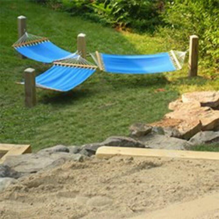 Backyard Hammock Ideas : Cute idea for hammocks  Gardening & Patio  Pinterest