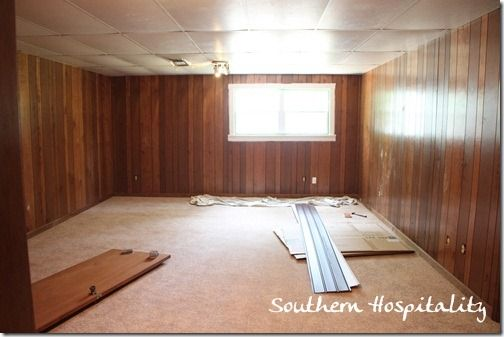 Basement painting wood paneling for the home pinterest Painting paneling in basement