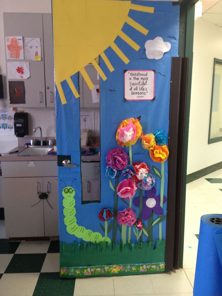 Classroom Decoration Prek ~ Pre k classroom spring door miss adams