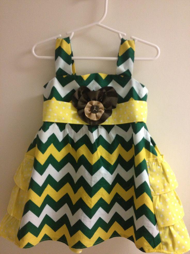 Custom #Baylor dress for my toddler!