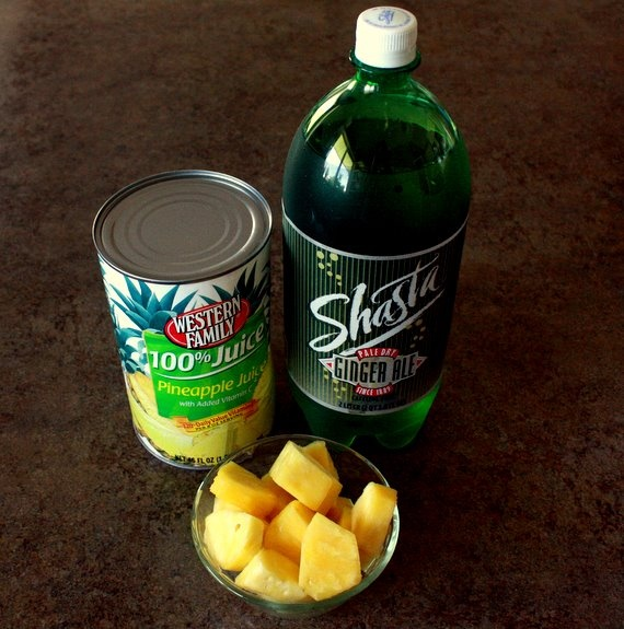 ingredients for sparkling pineapple ginger ale