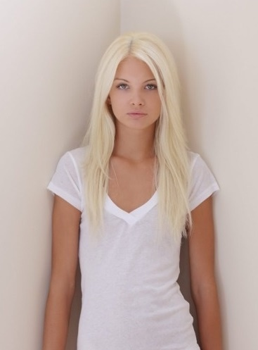 bleach blonde hair makeup nails pinterest