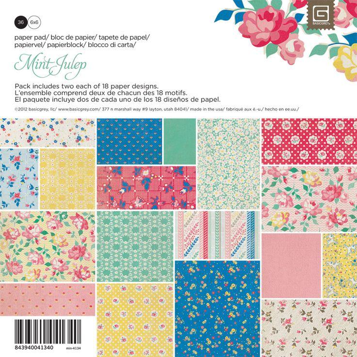 BasicGrey - Mint Julep Collection - 6 x 6 Paper Pad at Scrapbook.com $5.99