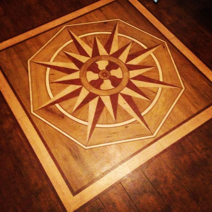 wood inlay floor design woodworkingvermont pinterest