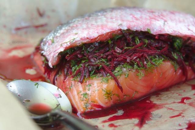 beetroot cured gravlax | eztettem | Pinterest
