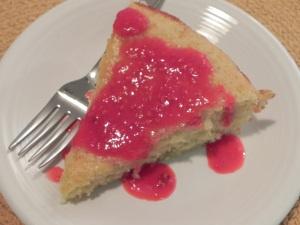 Lime Yogurt Cake with Raspberry Sauce | Healthy Eats | Pinterest
