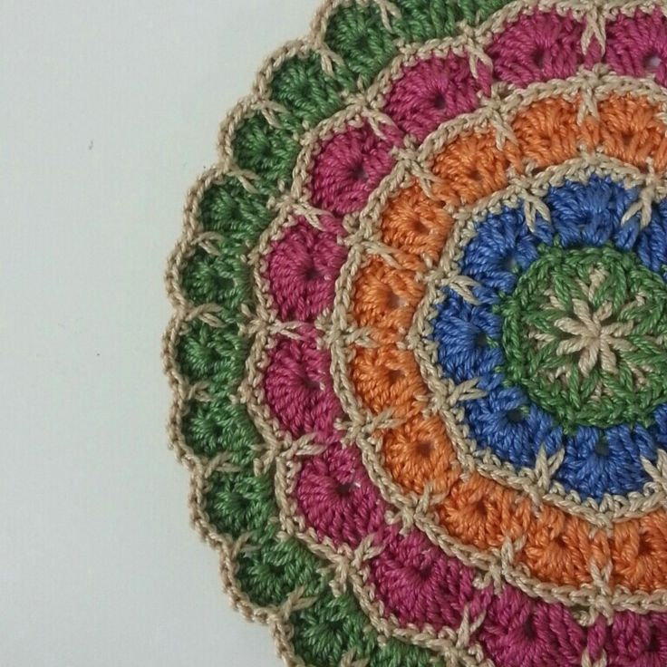 Crochet Mandala : Crochet mandala Virka och sticka Pinterest