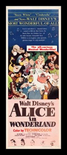 Alice in wonderland * original 1951 movie poster disney