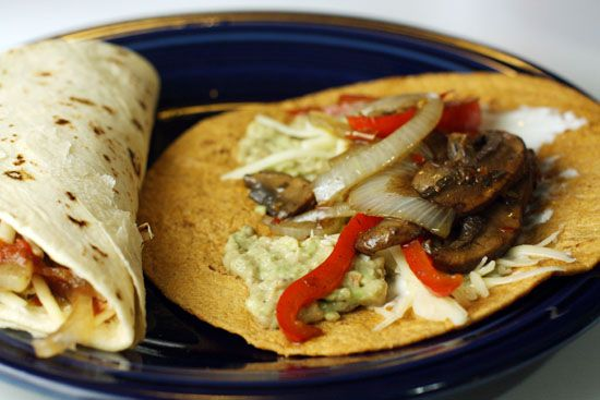 Mushroom Fajitas with Simple Guacamole