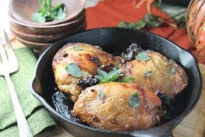 Chicken Marbella (red wine vinegar, garlic, capers/olives, oregano ...