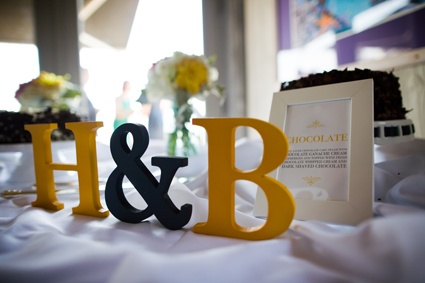 wedding wood initials