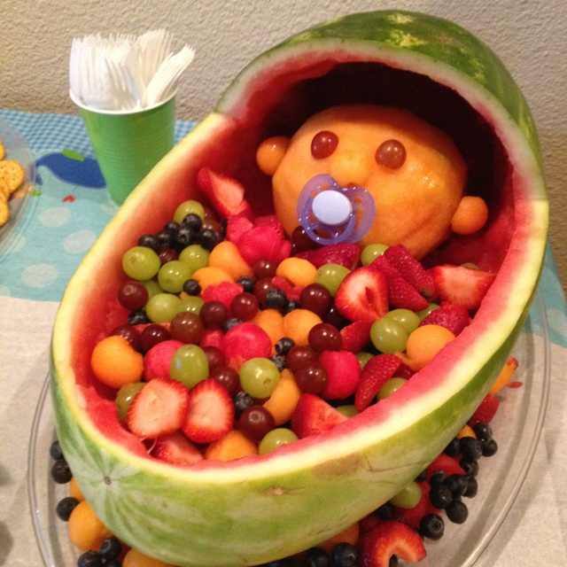 new baby watermelon server baby shower food lookin 39 good pintere