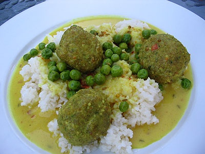 Split Pea Cilantro Dumplings in a Coconut Curry | Lisa's Kitchen ...
